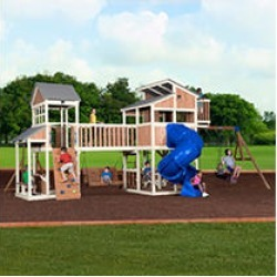 Backyard Discovery Skyline Retreat Cedar Swing Set/Playset Installed