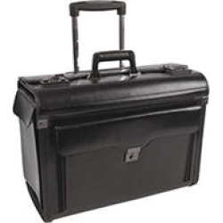 bugatti Bond Street Collection Catalog Case on Wheels, Leather, Black found on Bargain Bro India from Sam's Club for $136.98