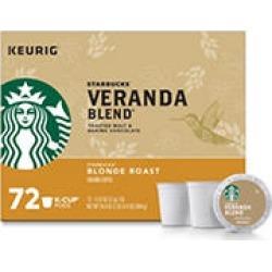 Starbucks Veranda Blend Ground Coffee, Blonde Roast (72 K-Cups)
