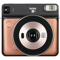 Fujifilm SQ6 Instax Square Instant Film Camera, Blush Gold