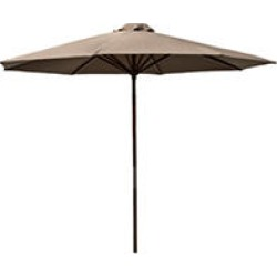Classic Wood 9 ft Market Umbrella - Chocolate found on Bargain Bro India from Sam's Club for $56.62