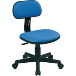 OSP Home Furnishings Student Task Chair in Blue Fabric