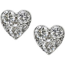 0.46 CT. T.W. Diamond Heart Stud Earrings in 14K White Gold found on Bargain Bro from Sam's Club for USD $303.24