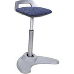 Alera Sit-to-Stand Perch Stool, Blue (Silver Base)
