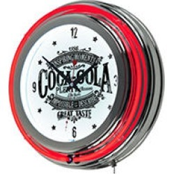 Coca Cola Brazil 1886 Vintage Neon Clock found on GamingScroll.com from Sam's Club for $59.88