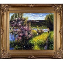 Pierre-Auguste Renoir The Seine at Chatou Hand Painted Oil Reproduction found on Bargain Bro from Sam's Club for USD $211.26