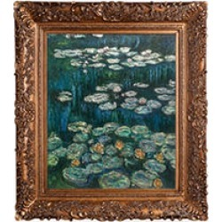 Claude Monet Water Lilies Hand Painted Oil Reproduction found on Bargain Bro India from Sam's Club for $299.88