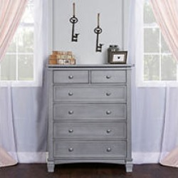 Evolur Cheyenne and Santa Fe 6-Drawer Dresser, Storm Gray