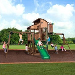 Backyard Discovery Skyfort Elite Swing Set w/ Install