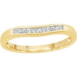 0.15 ct. t.w. 14K Yellow Gold Contour Band with Princess Cut Diamonds with a Milgrain Finish (H-I, I1) - Size 5 found on Bargain Bro Philippines from Sam's Club for $299.00