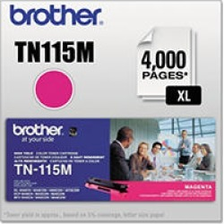 Brother TN115 Series Toner Cartridge, Magenta found on Bargain Bro Philippines from Sam's Club for $124.98