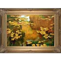 Claude Monet Water Lilies Hand Painted Oil Reproduction found on Bargain Bro Philippines from Sam's Club for $349.00