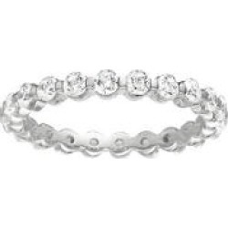 Prong-Set Diamond Eternity Band White Gold - 3mm (I, SI2) size 8 found on Bargain Bro Philippines from Sam's Club for $1573.00