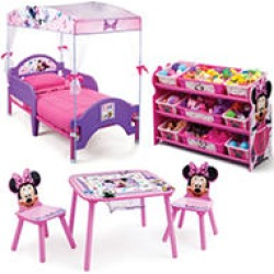 Delta Children Minnie Mouse 3-Piece Toddler Canopy Bedroom Set