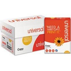 "Universal Copy Paper, 92 Brightness, 20lb, 8 1/2"" x 11"", White - 10 Ream Case"