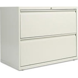 """Alera 36"""" 2-Drawer Lateral File Cabinet, Light Gray"""