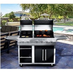 NXR 4 Main Burners+ 2 Burner Griddle Combo Grill found on Bargain Bro Philippines from Sam's Club for $699.00