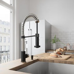 VIGO Edison Pull-Down Spray Kitchen Faucet In Stainless Steel/Matte Black found on Bargain Bro India from Sam's Club for $176.28