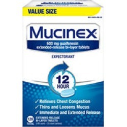 Mucinex 12 Hr Chest Congestion Expectorant Tablets (120 ct.)