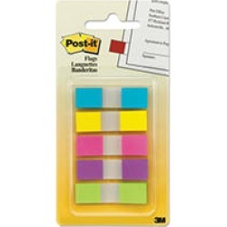 Post-it - Flags in Portable Dispenser, Five Bright Colors - 5 Dispensers of 20 Flags/Color