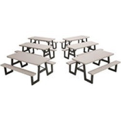 Lifetime 6-Foot Picnic Table Putty, 6 Pack found on Bargain Bro India from Sam's Club for $1399.00