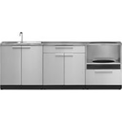NewAge Products Outdoor Kitchen Cabinet - Stainless Steel 4-Piece Set found on Bargain Bro India from Sam's Club for $3999.00