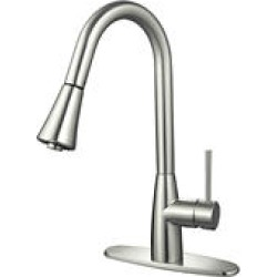 Hardware House Single Handle Gooseneck Kitchen Faucet w/ Sprayer found on Bargain Bro India from Sam's Club for $94.98