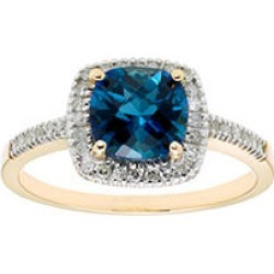 London Blue Topaz and .18 CT. T.W. Diamonds in 14K Gold Yellow5 found on Bargain Bro from Sam's Club for USD $196.84