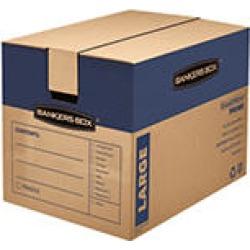 Bankers Box SmoothMove Prime Large Moving/Storage Boxes, 25 x 18 1/4 x 19, Kraft, 6ct.