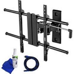 Ready Set Mount Full Motion TV Wall Mount w/ 8 ft HDMI cable - Fits 26in to 60in