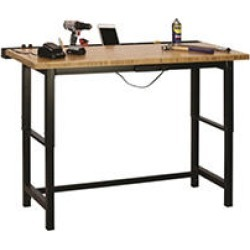 Muscle Rack 7.5 ft. Bamboo Top Workbench