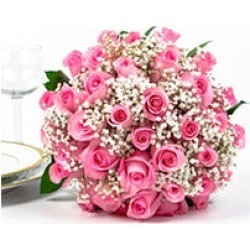 Wedding Collection Pink Rose (33 pieces) found on Bargain Bro from Sam's Club for USD $560.88