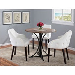 Eliza Contemporary Dining Chair in Espresso with Cream Velvet - Set of 2 found on Bargain Bro India from Sam's Club for $199.88