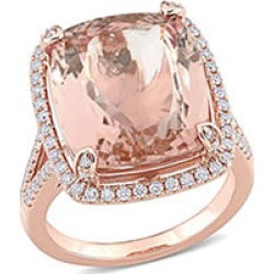Allura 10.3 CT. T.G.W. Morganite and 0.60 CT. T.W. Diamond Cocktail Ring in 14k Rose Gold 6.5 found on Bargain Bro from Sam's Club for USD $3,001.24
