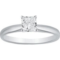 Superior Quality Collection 1 CT. T.W. Princess Shaped Diamond Solitaire Ring in 18K White Gold (I, VS2)10