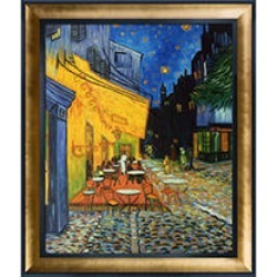 Vincent Van Gogh Cafe Terrace at Night (gold) Hand Painted Oil Reproduction found on Bargain Bro from Sam's Club for USD $265.98