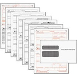 Tops Tax Forms/W-2 Tax Forms Kit with 24 Forms, 24 Envelopes, 1 Form W-3