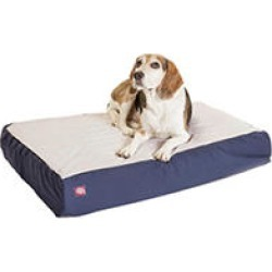 "Majestic Pet Orthopedic Double Pet Bed, 24 x 34"" (Blue)"