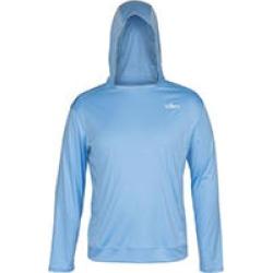 Habit® Men's Hooded Performance Layer Long Sleeve Shirt, Blue XXL
