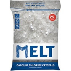 MELT 25 Lb. Resealable Bag Calcium Chloride Crystals Ice Melter - MELT25CC found on Bargain Bro from Sam's Club for USD $8.34