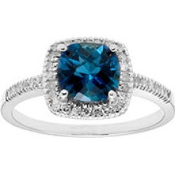 London Blue Topaz and .18 CT. T.W. Diamonds in 14K Gold White7 found on Bargain Bro from Sam's Club for USD $196.84