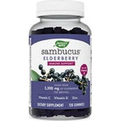 Nature's Way Sambucus Elderberry Herbal Supplement Gummies, Gluten Free (120 ct.)