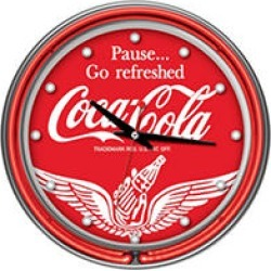 Wings Coca Cola Neon Clock - Two Neon Rings found on GamingScroll.com from Sam's Club for $59.88