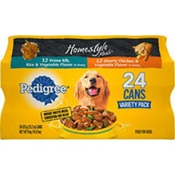 Pedigree Homestyle Choice Cuts Wet Dog Food, Variety Pack (13.2 oz, 24 ct.)