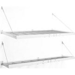 NewAge Products Pro Series 4 ft. x 8 ft. and 2 ft. x 8 ft. Wall Mounted Steel Shelf Set in White found on Bargain Bro India from Sam's Club for $369.00
