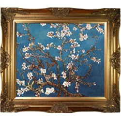 Hand-painted Oil Reproduction of Vincent Van Gogh's Branches of an Almond Tree in Blossom. found on Bargain Bro from Sam's Club for USD $106.30