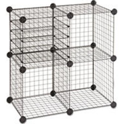 Safco - Wire Cube Shelving System, 14w x 14d x 14h - Black found on Bargain Bro India from Sam's Club for $33.98