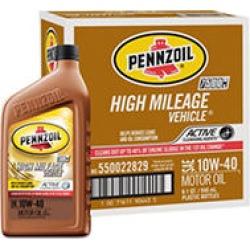 Pennzoil High Mileage SAE 10W-40 Motor Oil