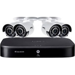 Lorex 8 Channel 4K DVR with 2TB HDD and 4 x 4K Cameras with Voice Control Features found on Bargain Bro India from Sam's Club for $399.00