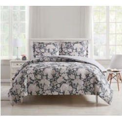 Waverly Rose Toile Oversized 3 Piece Comforter Set- Full/Queen